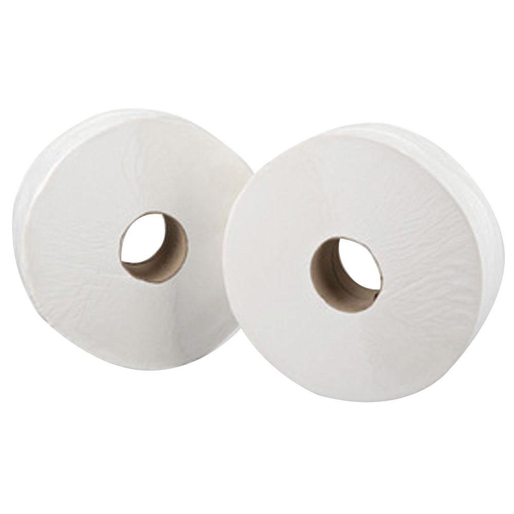 Maxima White 2-Ply Mini Jumbo Toilet Rolls, Pack of 12 - KMAX2500