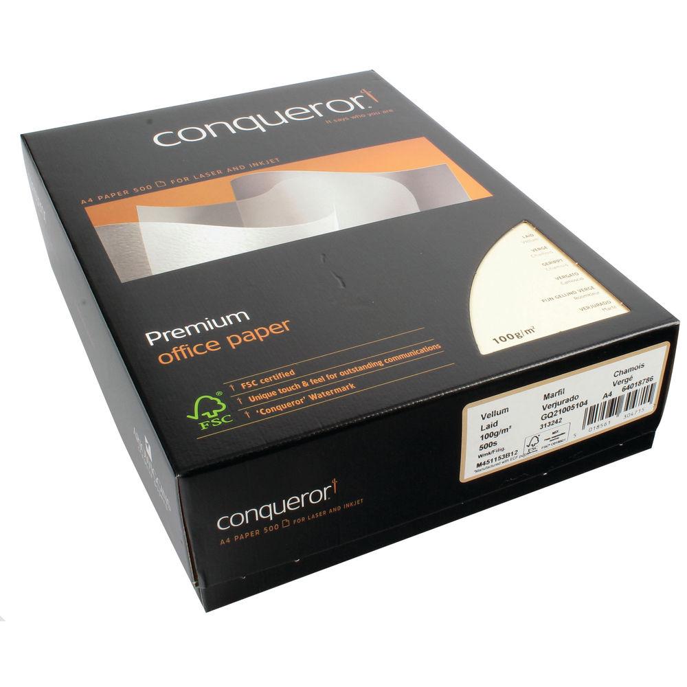 Conqueror A4 Watermark Paper 100gsm Vellum (Ream of 500) 20261