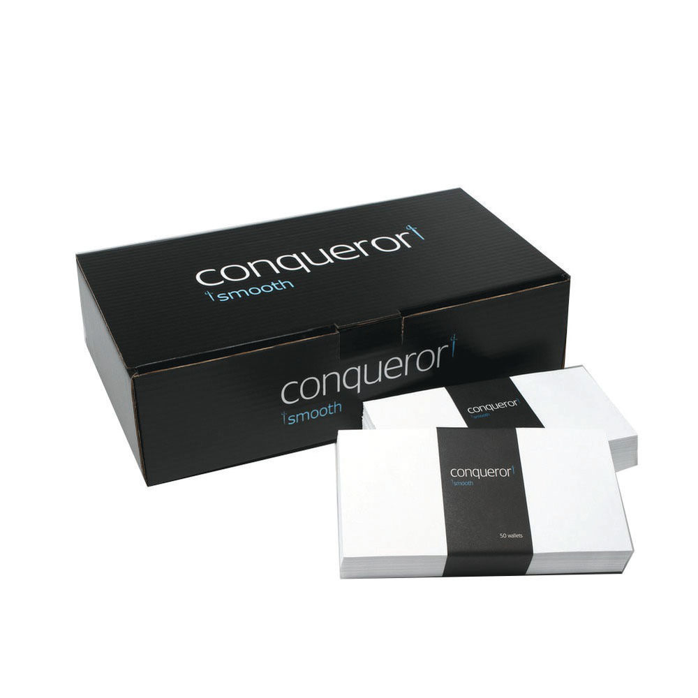 Conqueror Wove DL Wallet Envelope 110x220mm Brilliant White (Pack of 500) CWE1007BW