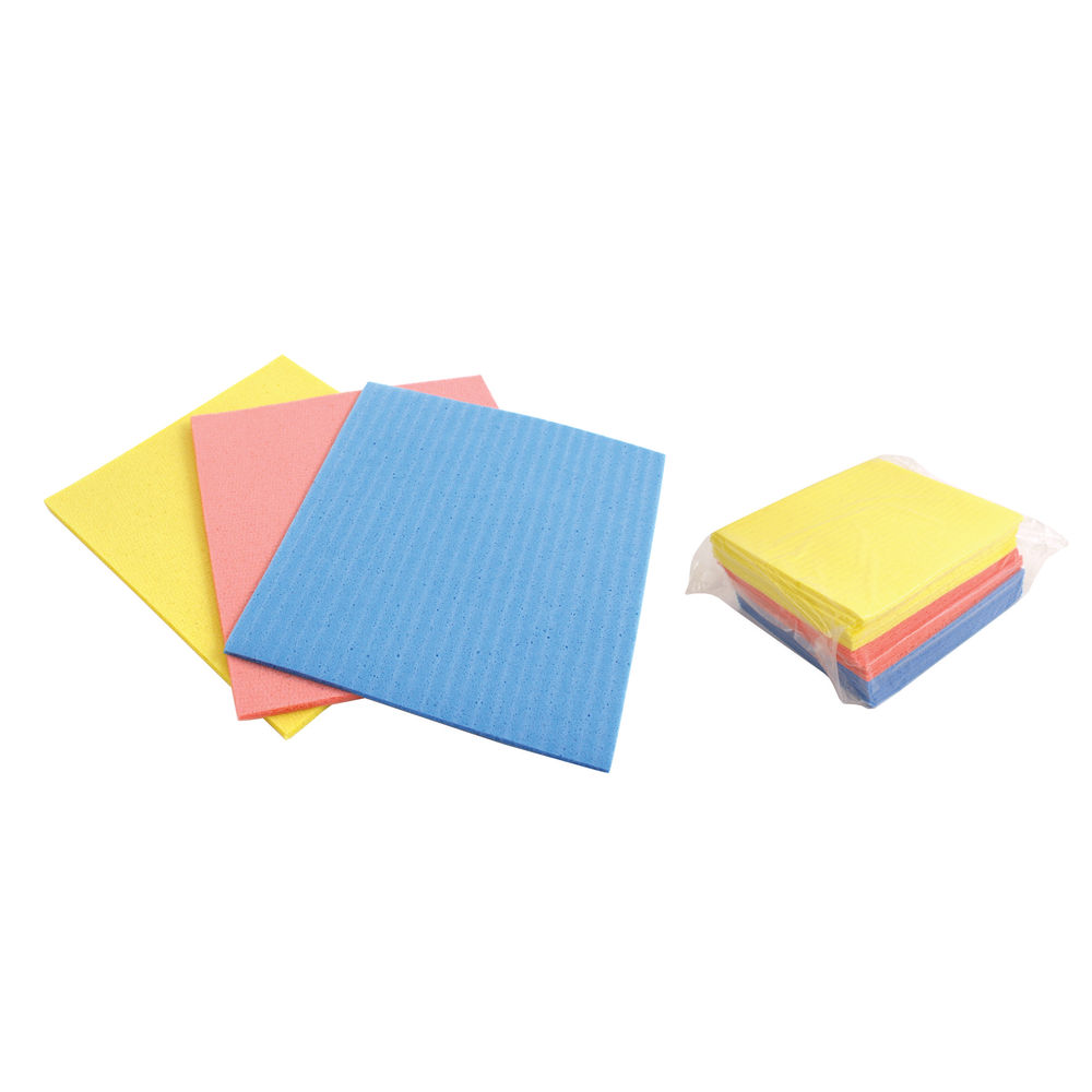Cellulose Sponges Assorted (Pack of 18) CLOTH.01/18