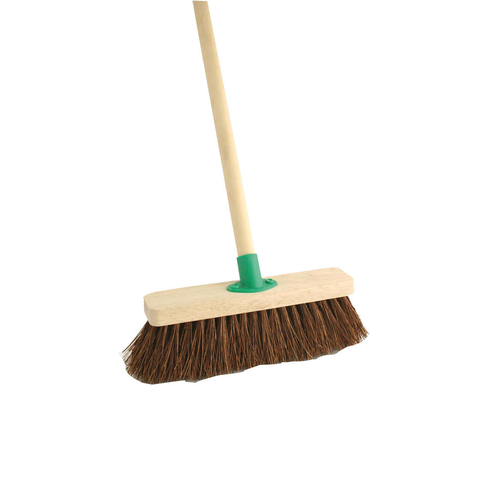 12 Inch Stiff Bassine Broom with Handle - VOW/F.10/BKT/C4