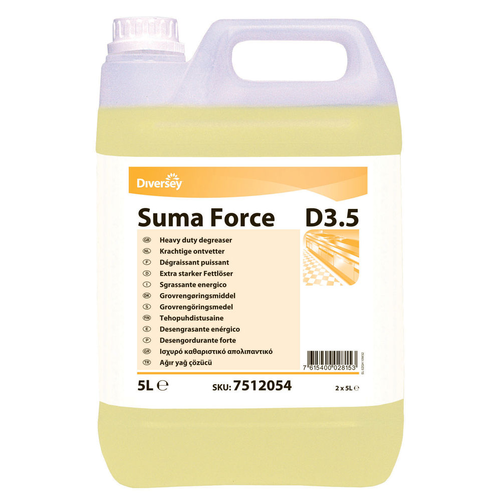 Diversey Suma D3.5 Heavy Duty Degreaser 5 Litre (Pack of 2) 7512054