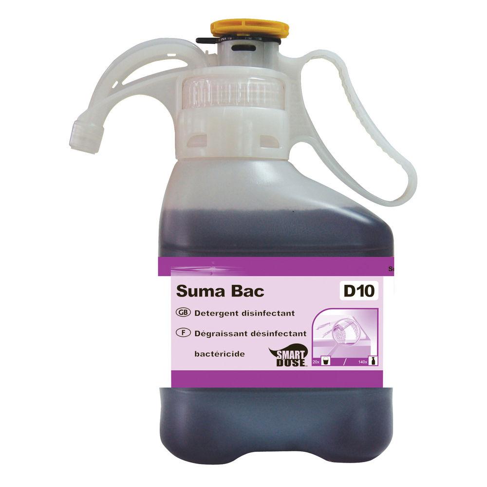 Diversey D10 SmartDose Suma Bac 1.4 Litre Detergent Surface Sanitiser, Pack of 2
