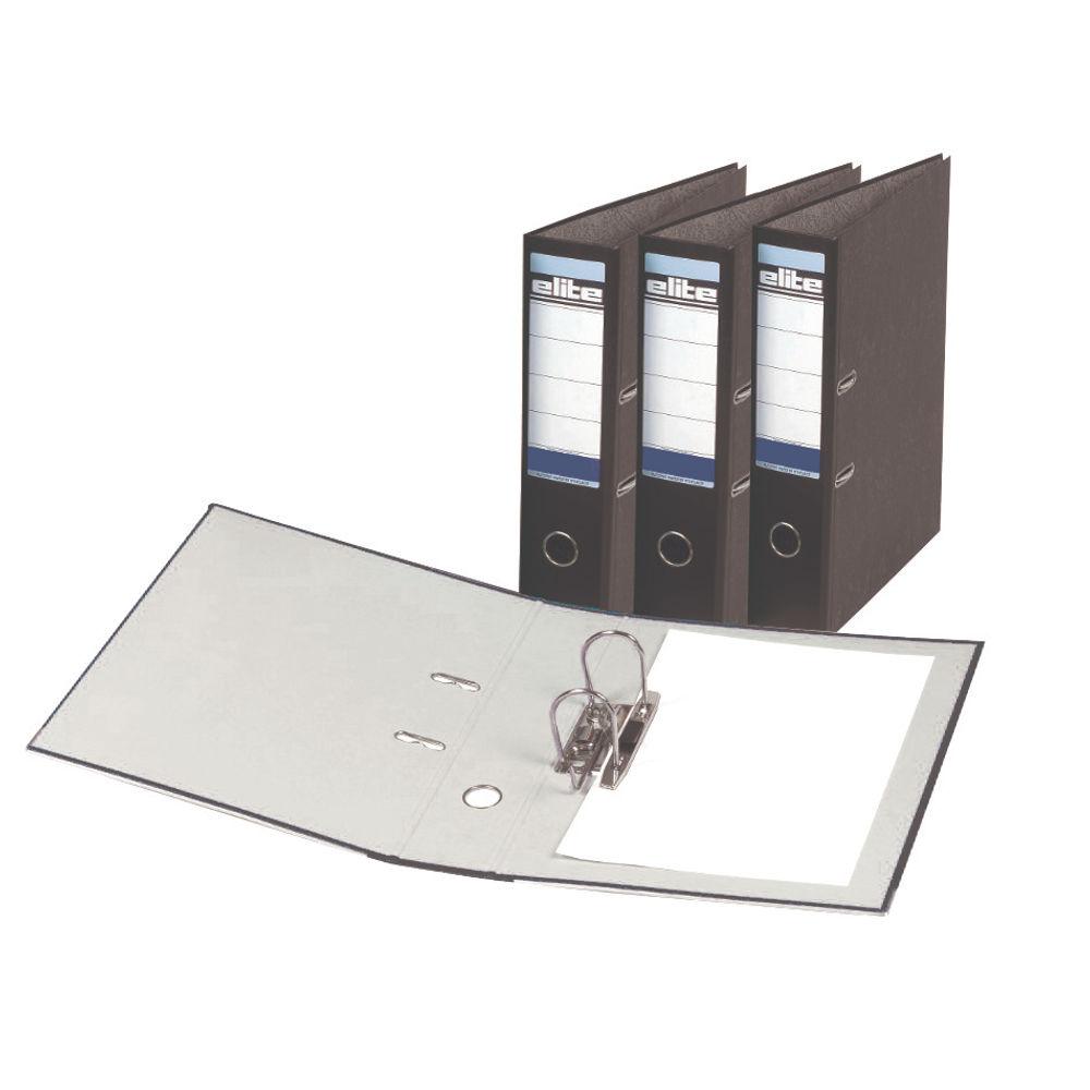 Rexel Elite Black A4 Lever Arch File, 70mm - Pack of 10 - EA26745