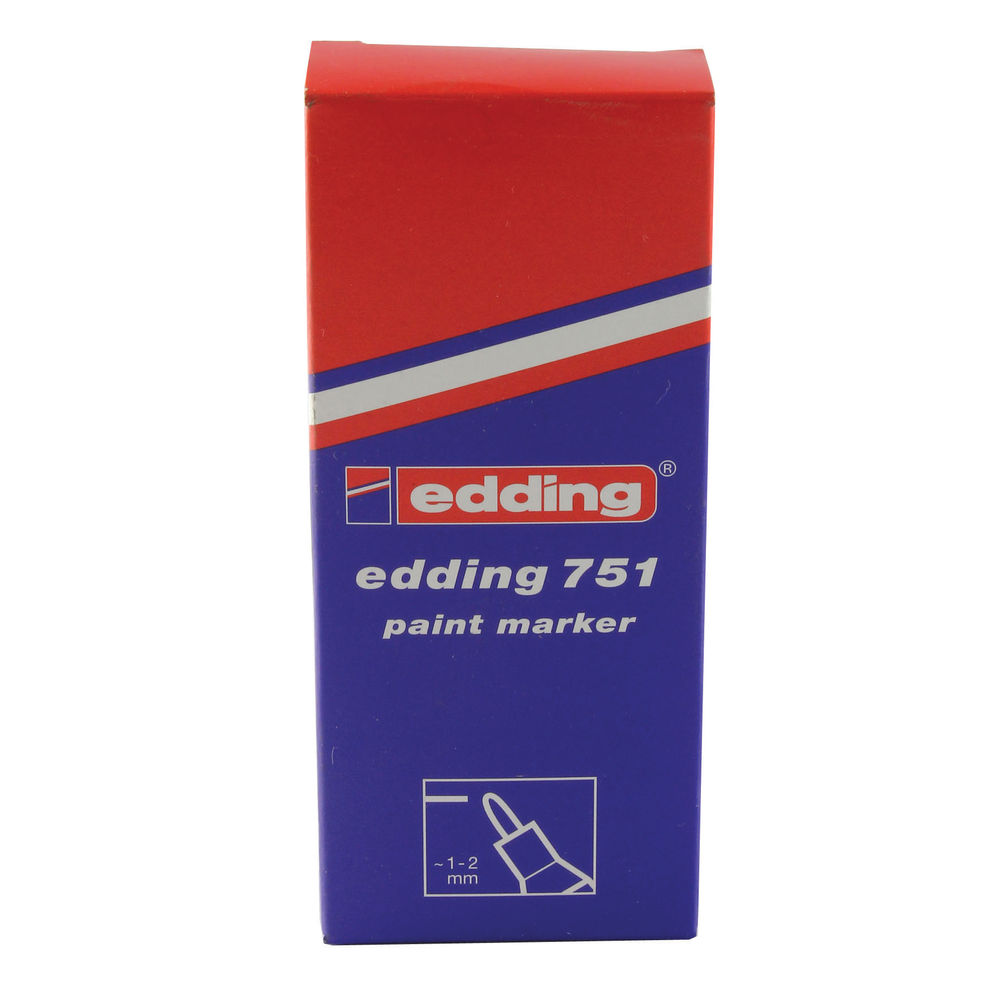 Edding 751 Silver Paint Markers, Pack of 10 - ED49814