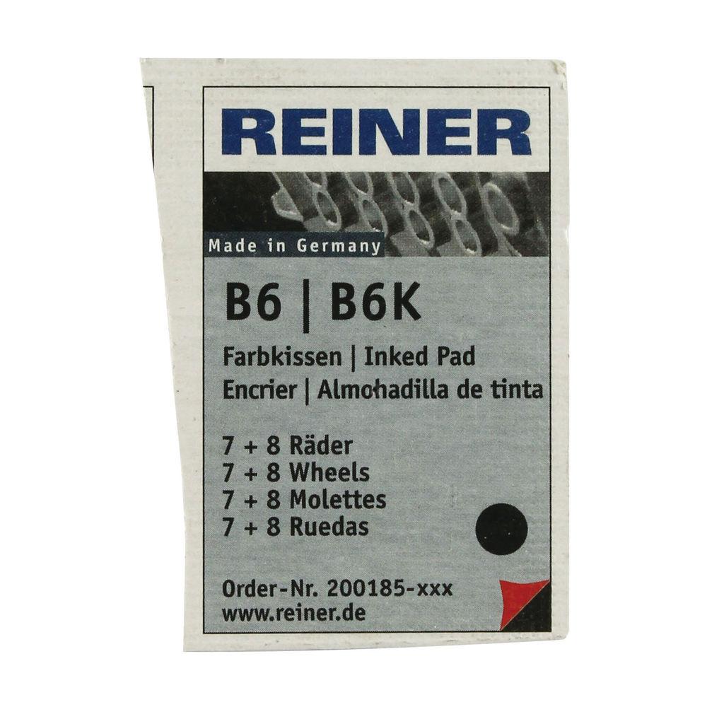 COLOP Reiner B6/8K Replacement Ink Pad Black (Pack of 2) RB8KINK
