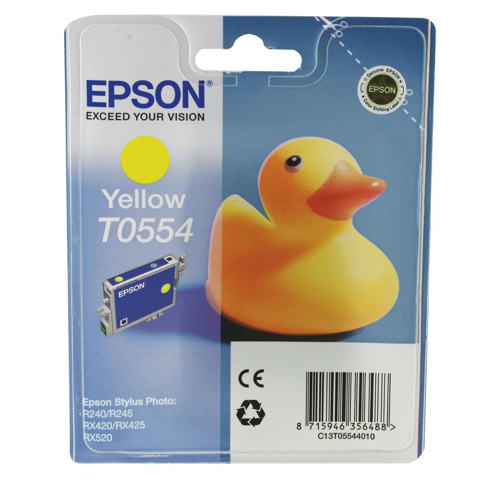 Epson T0554 Yellow Ink Cartridge- C13T05544010