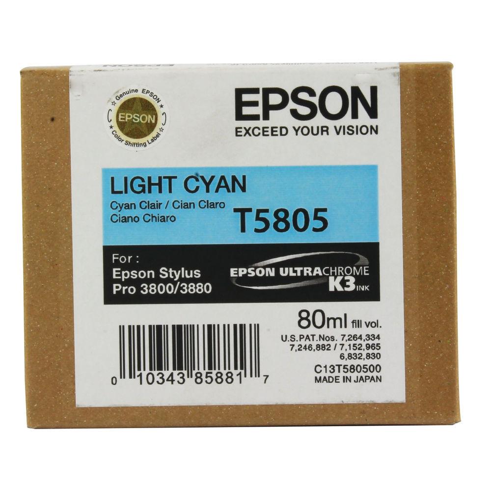 Epson T5805 Light Cyan Ink Cartridge - C13T580500