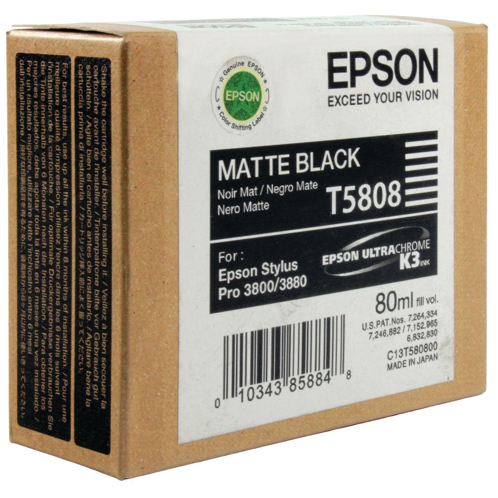 Epson T5808 Matte Black Ink Cartridge - C13T580800