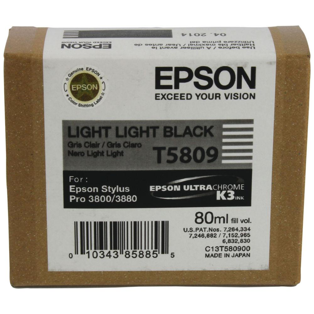 Epson T5809 Light Light Black Ink Cartridge - C13T580900
