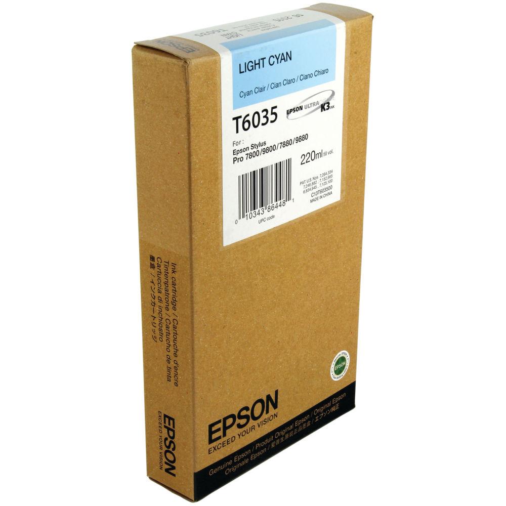 Epson T6035 Light Cyan Ink Cartridge - High Capacity C13T603500