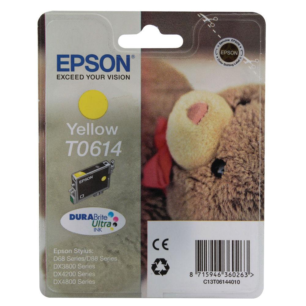 Epson T0614 Yellow Ink Cartridge - C13T06144010