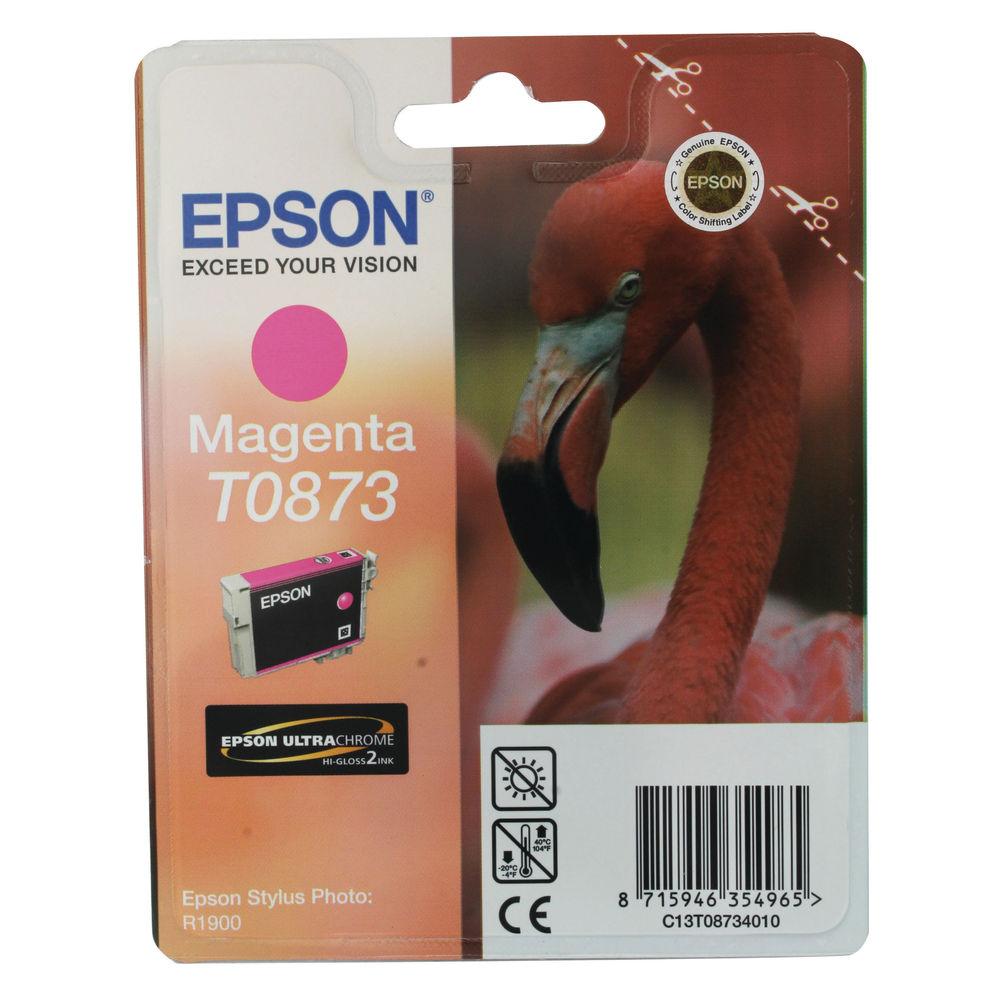Epson T0873 Magenta Ink Cartridge - C13T08734010