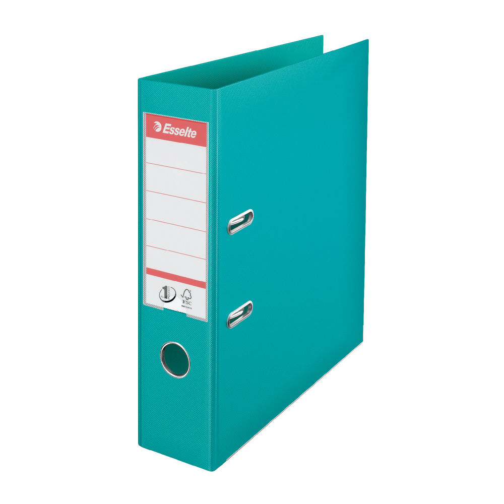 Esselte No.1 Power Turquoise A4 Lever Arch Files 75mm - Pack of 10 - 81155