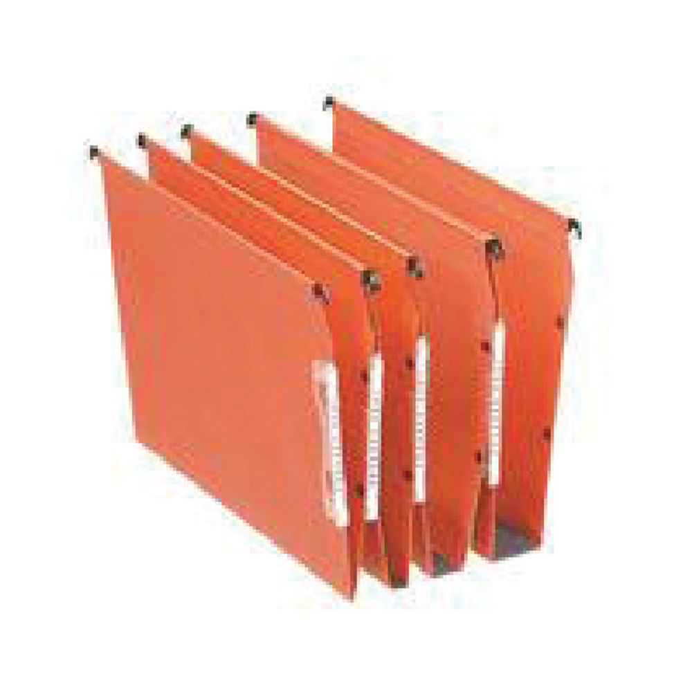 Esselte Orgarex 50mm Lateral File A4 Orange (Pack of 25) 21630