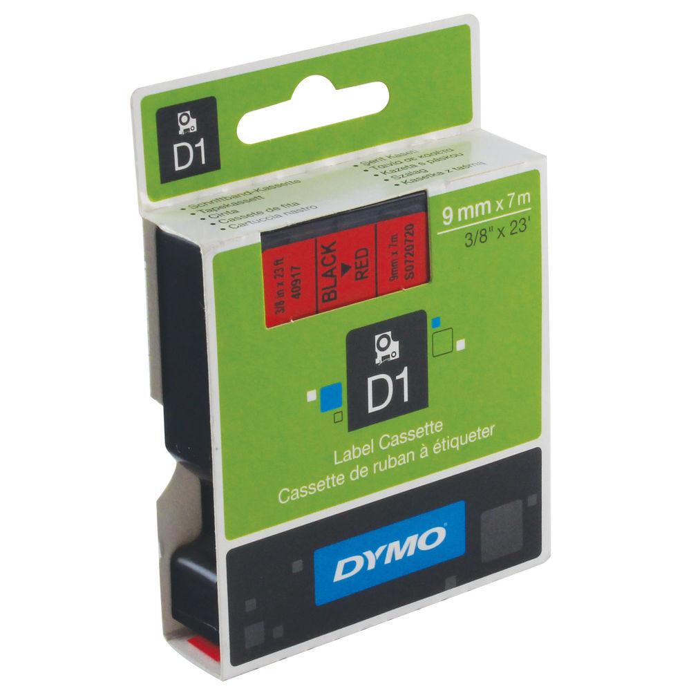 Dymo D1 Standard Label Tape Black on Red - S0720720