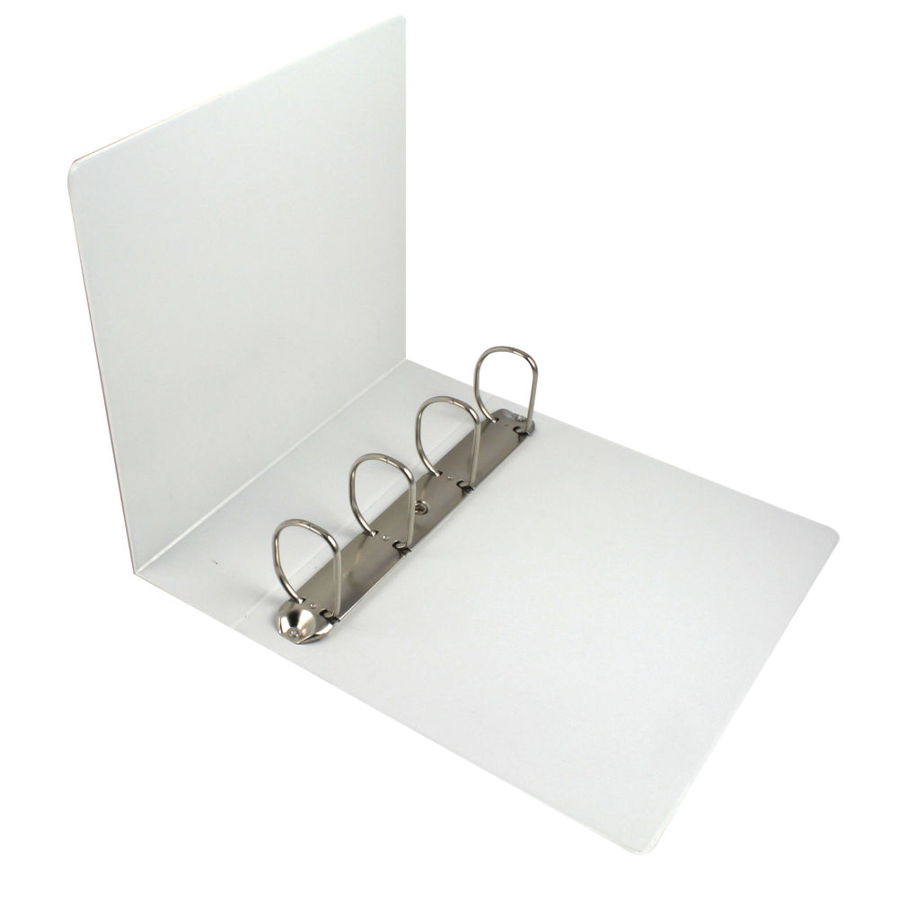 esselte white a4 presentation 4 d ring binder 60mm 49706