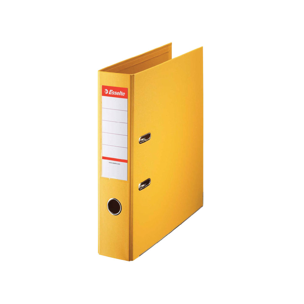 Esselte No.1 Power Yellow A4 Lever Arch Files 75mm - Pack of 10 - 48061