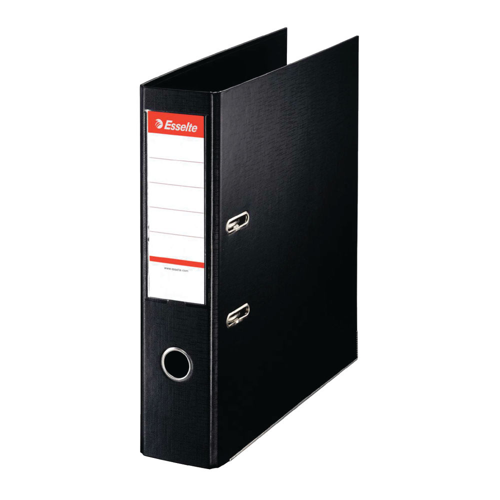 Esselte No.1 Power Black A4 Lever Arch Files 75mm - Pack of 10 - 48067