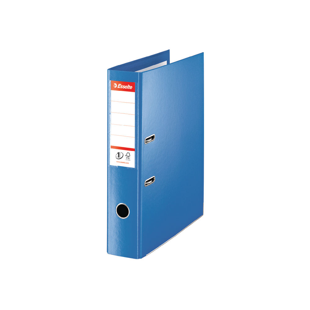 Esselte No.1 Power Blue Foolscap Lever Arch Files 75mm - Pack of 10 - 48085