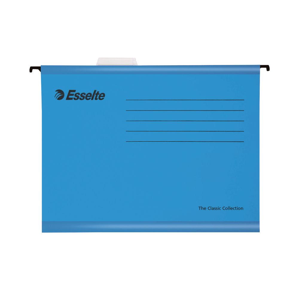 Esselte Classic Foolscap Blue Suspension File, 30mm - Pack of 25 - 90334