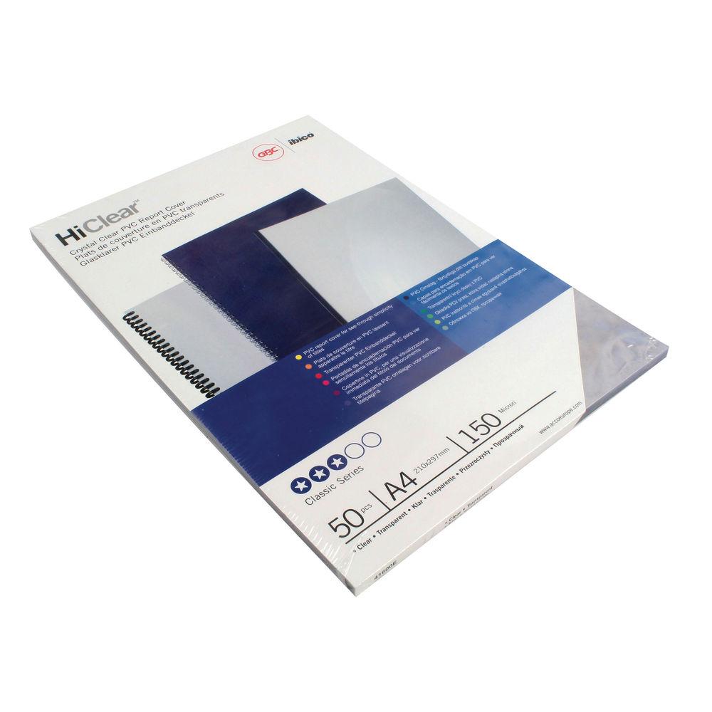 GBC A4 Clear PVC Covers, Pack of 50 - 41600U