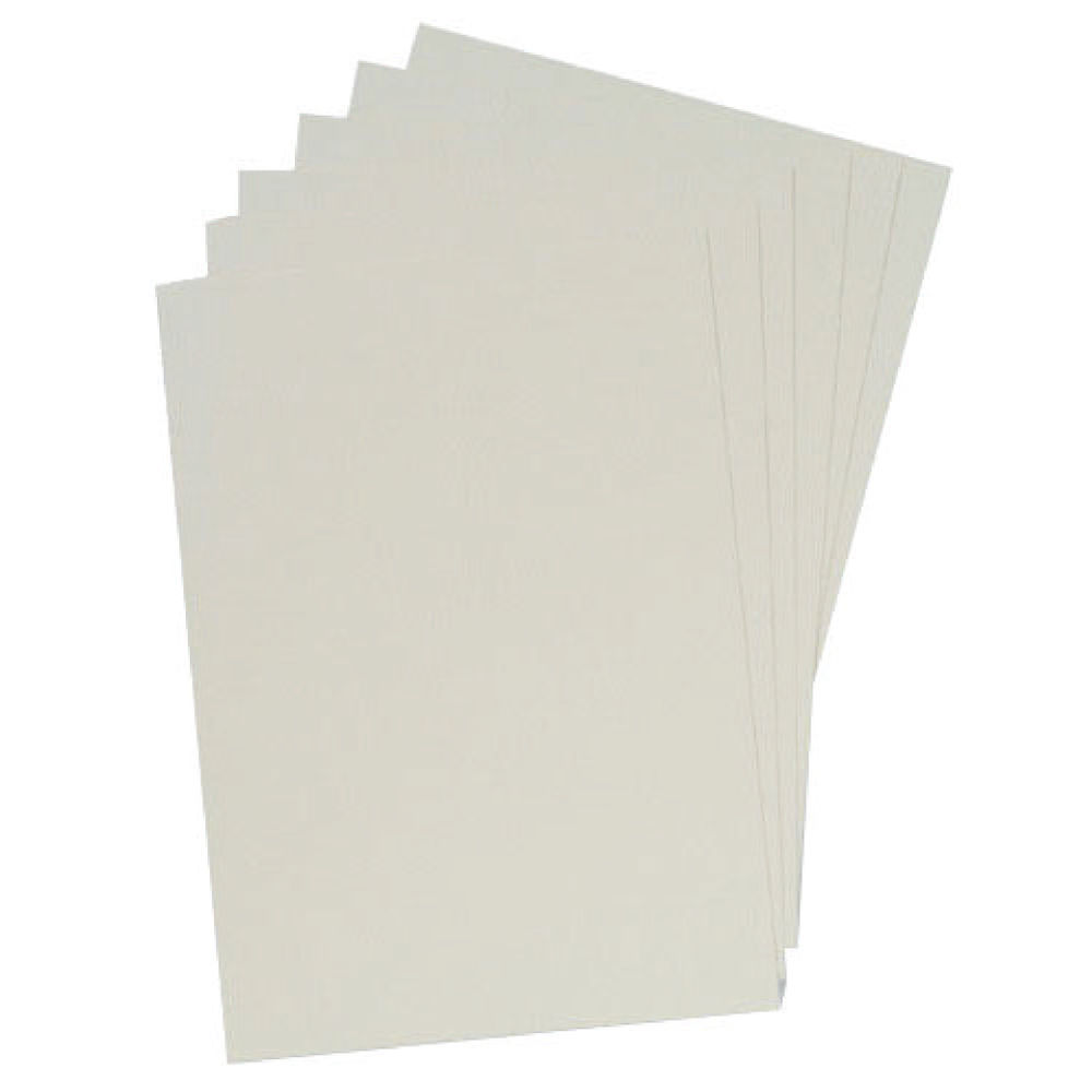 GBC LeatherGrain A4 White Binding Covers 250gsm, Pack of 100 - 91486U
