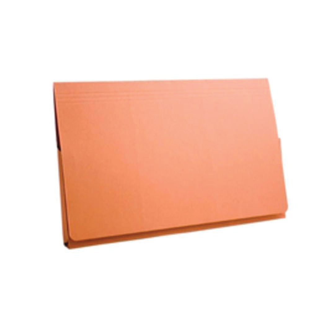 Exacompta Guildhall Full Flap Pocket Wallet Foolscap Orange (Pack of 50) PW2-ORG