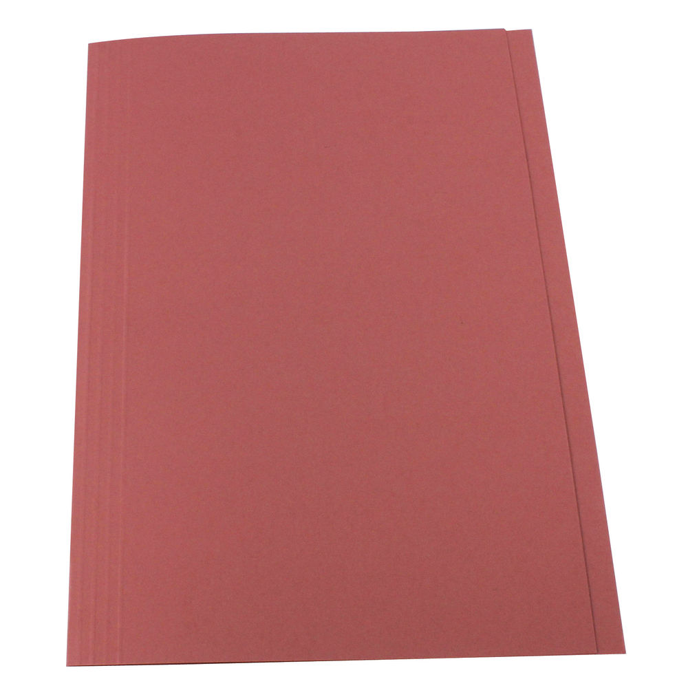 Guildhall Pink Foolscap Square Cut Folders 315gsm - Pack of 100 - FS315-PINK