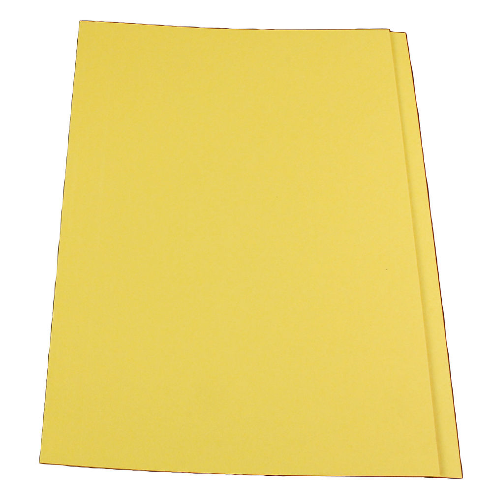 Guildhall Yellow Foolscap Square Cut Folders 315gsm - Pack 100 - FS315-YELLOW