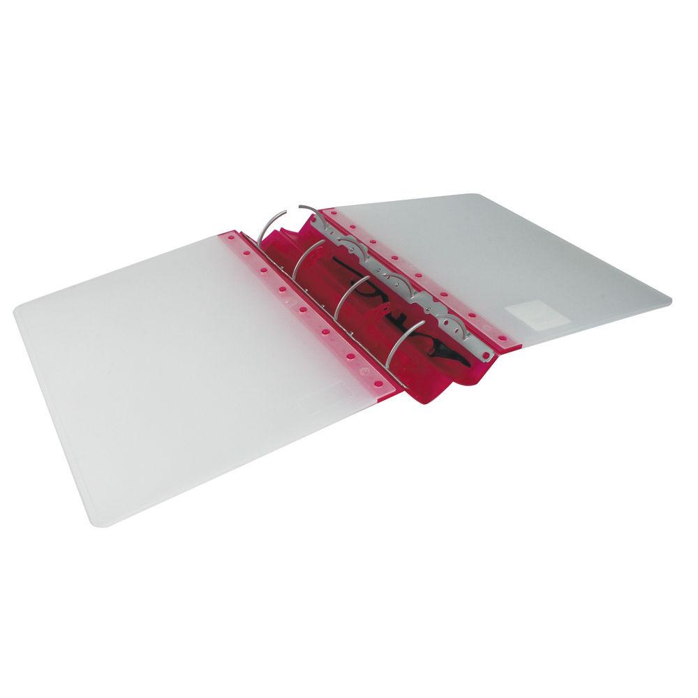 Guildhall Gl Ergogrip Binder Capacity 400 Sheets 4 Prong 4509z: Guildhall GL Ergogrip A4 Ring Binder, Red, 55mm