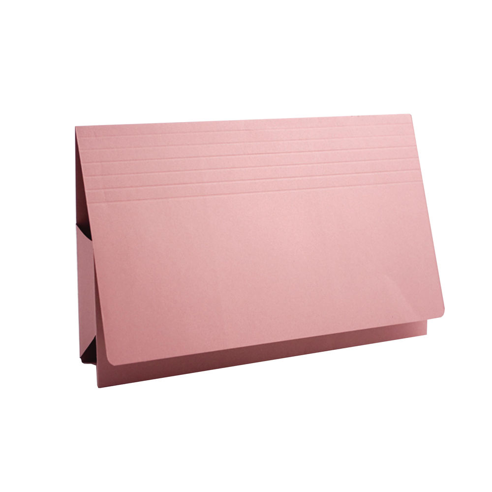 Guildhall Foolscap Pink Probate Wallets 315gsm- Pack of 25 - PRW2-PNK