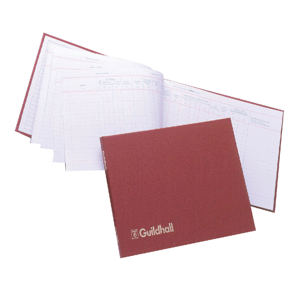 Guildhall Wages Book, 149x203mm, (for up to 18 employees) - 1610