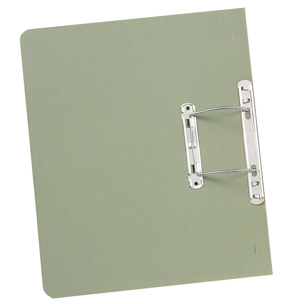 Guildhall Foolscap Green 38mm Transfer Spiral Files 315gsm- Pack of 50 - GH22130