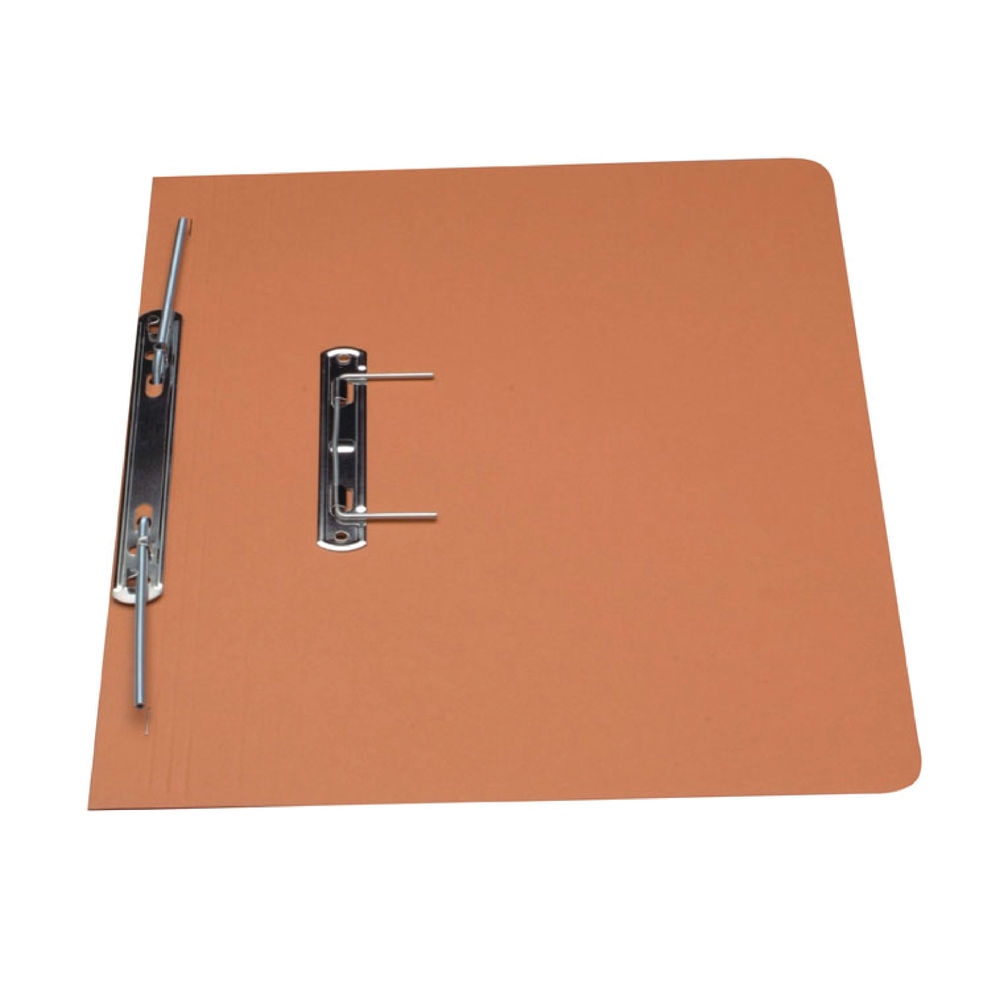 Guildhall Foolscap Orange 38mm Transfer Spiral File 315gsm, Pack of 50 - GH22132