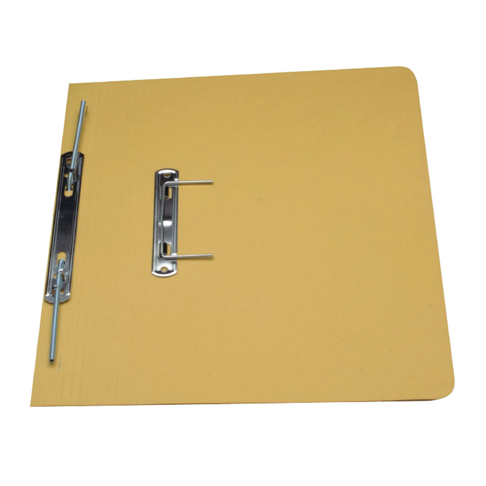 Guildhall Foolscap Yellow 38mm Transfer Spiral Files 315gsm, Pack of 50 - GH2215