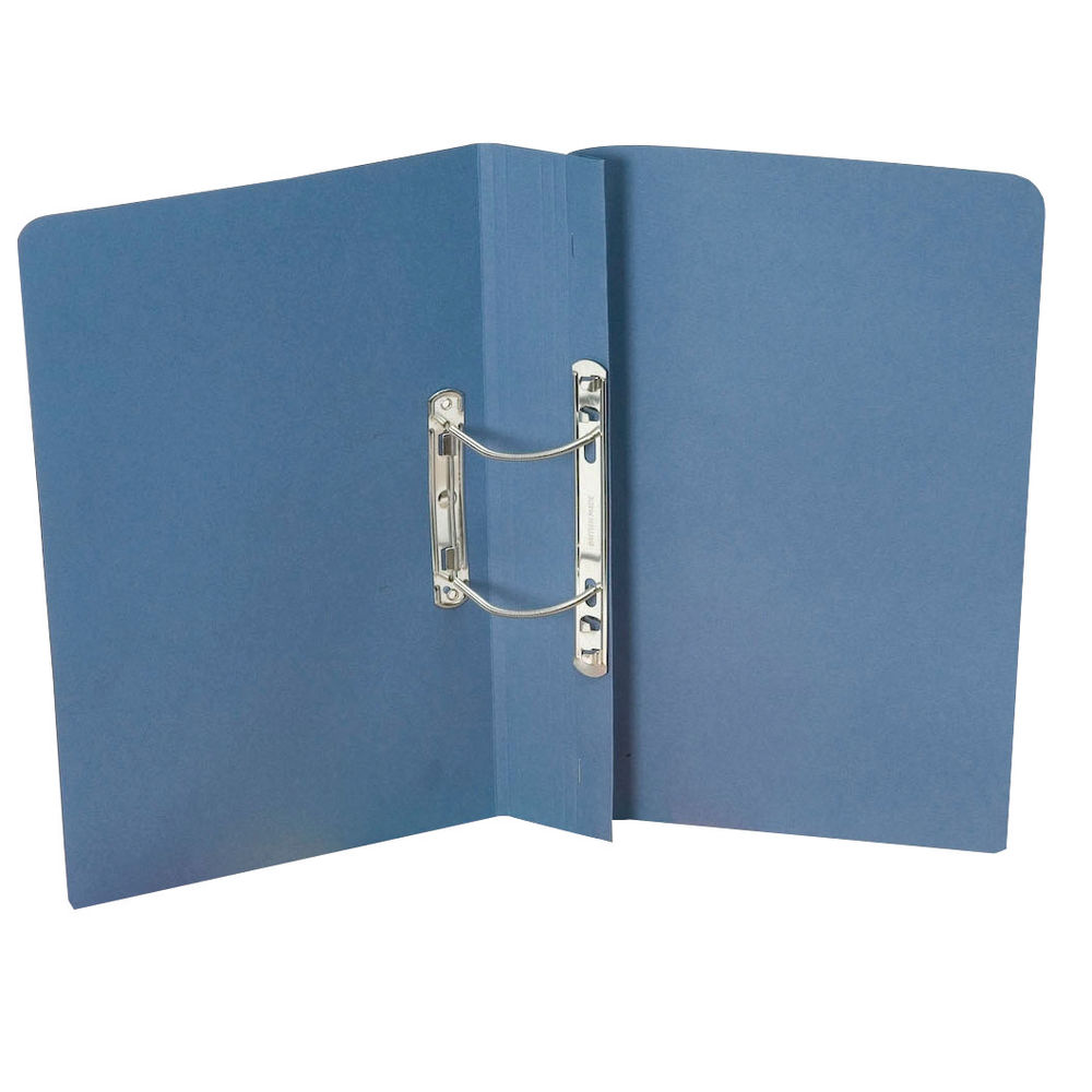 Guildhall Foolscap Blue 38mm Transfer Spiral Files 420gsm - Pack of 25 - GH23040