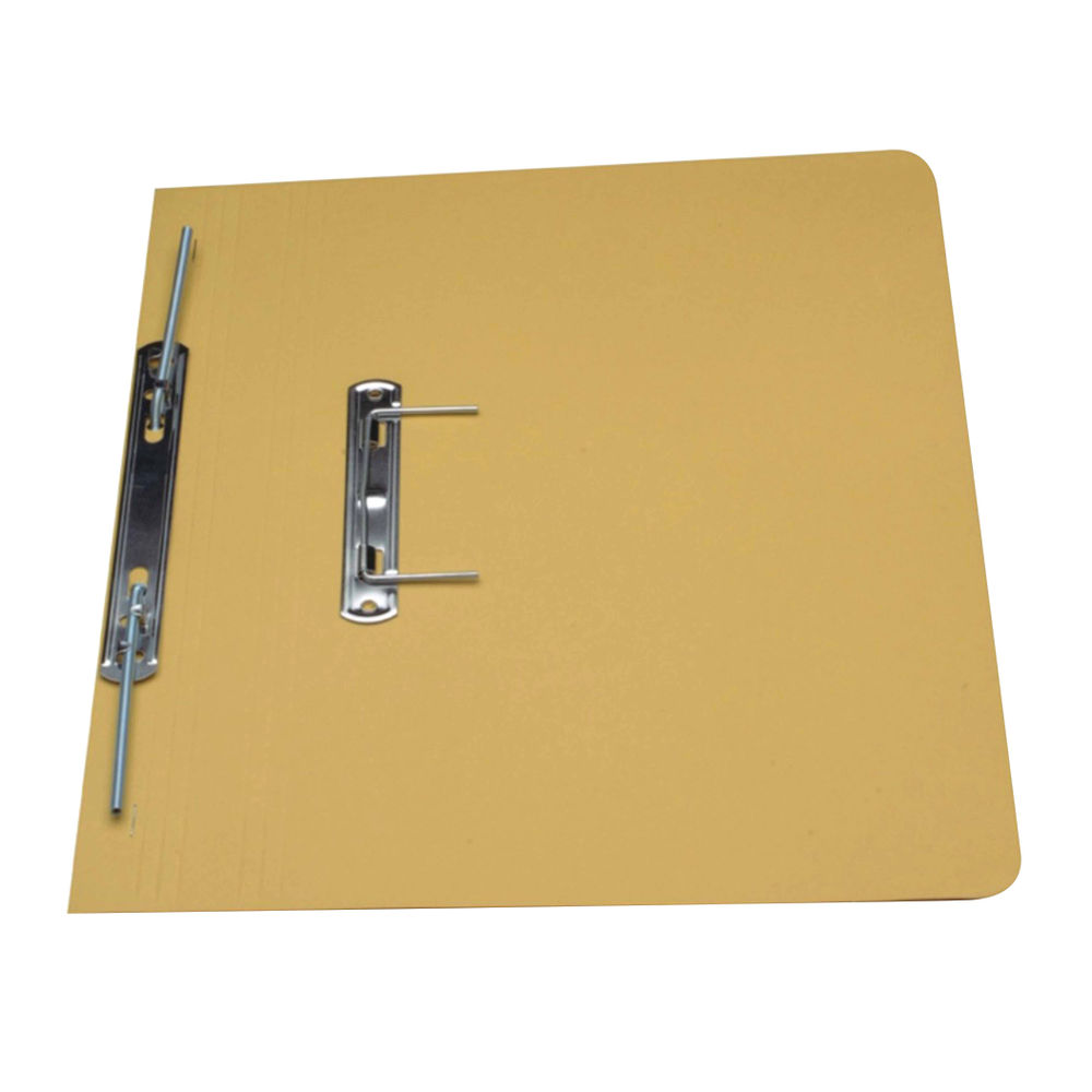 Guildhall Foolscap Yellow 38mm Transfer Spiral Files 420gsm - Pk25 - GH23043