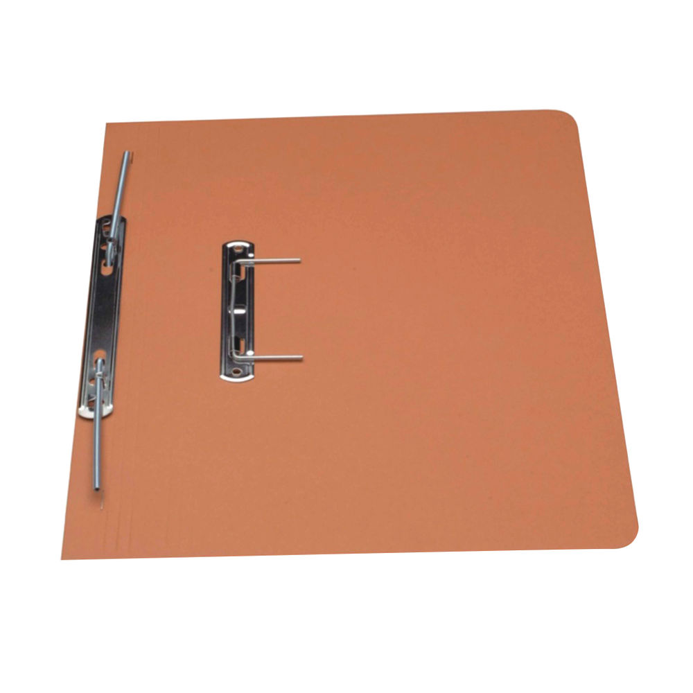 Guildhall Foolscap Orange 38mm Transfer Spiral Files - Pack of 25 - GH23044