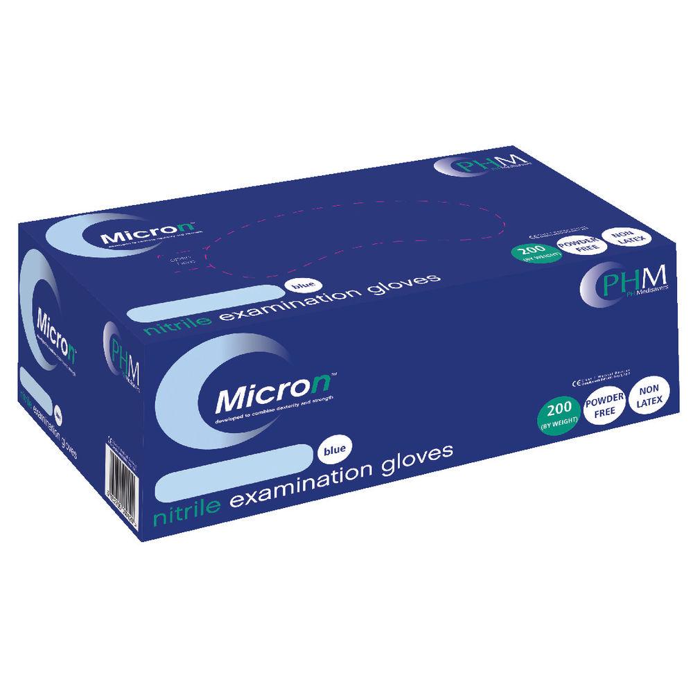 Hand-Safe Blue Powder-Free Nitrile Examination Large Gloves (Pack of 200) GN90