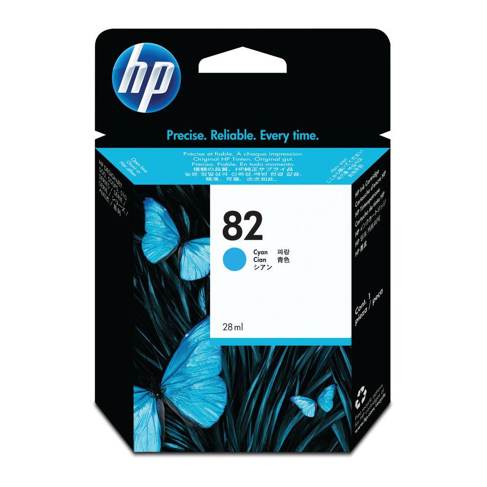 HP 82 Cyan Inkjet Cartridge (High Yield, 69ml, 1,430 Page Capacity) C4911A