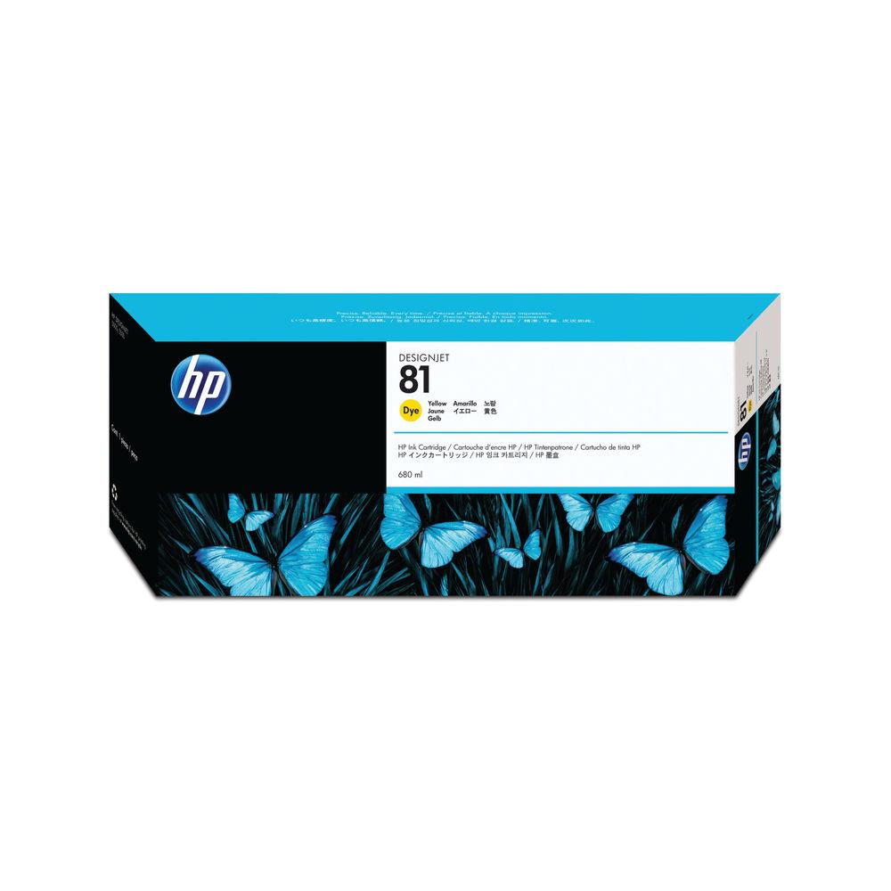 HP 81 Yellow Ink Cartridge - C4933A