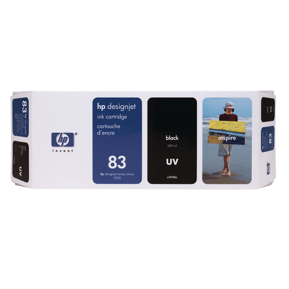 HP 83 Black UV Ink Cartridge - C4940A