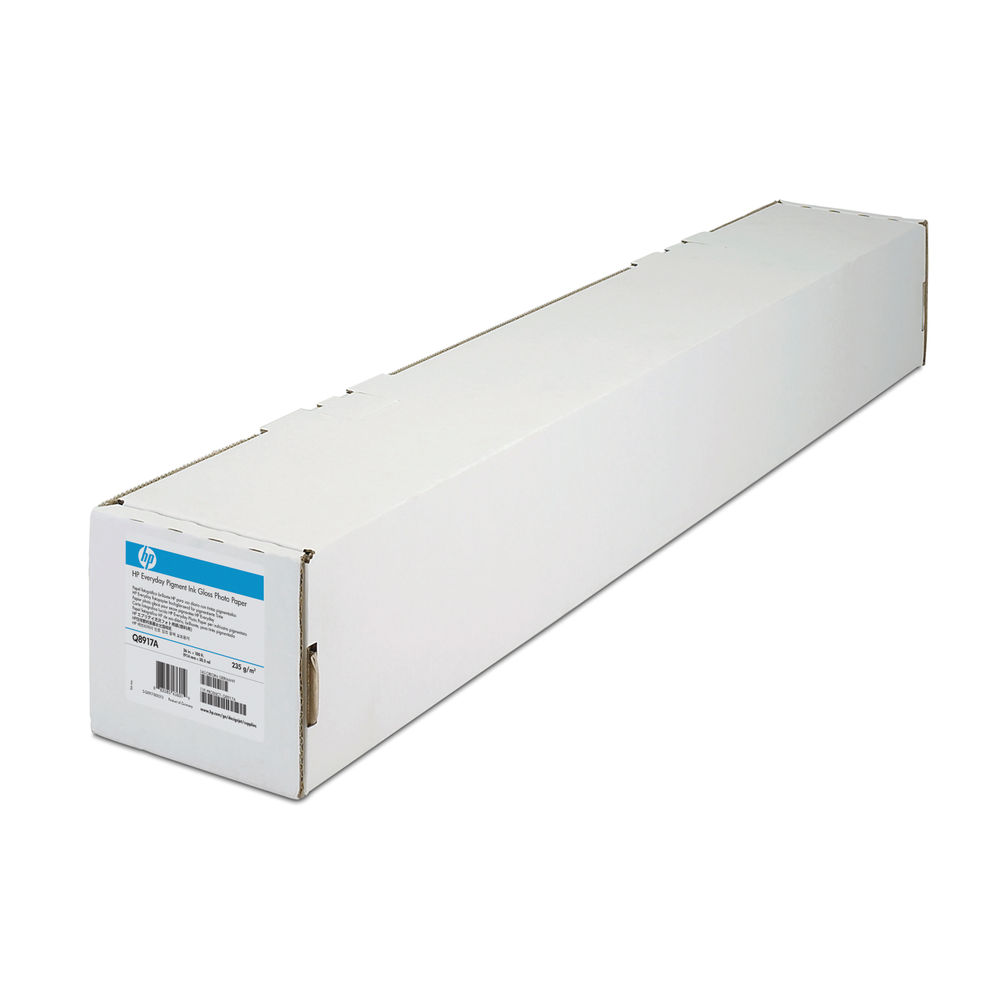 HP Media White Heavyweight Coated Paper Roll 130gsm, 1067mm x 30.5m - C6569C