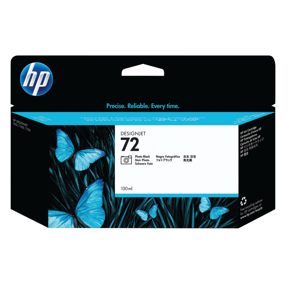 HP 72 Black Ink Cartridge - C9370A