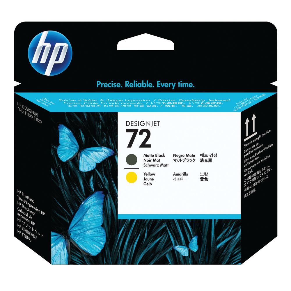 HP 72 Matte Black and Yellow Printhead - C9384A
