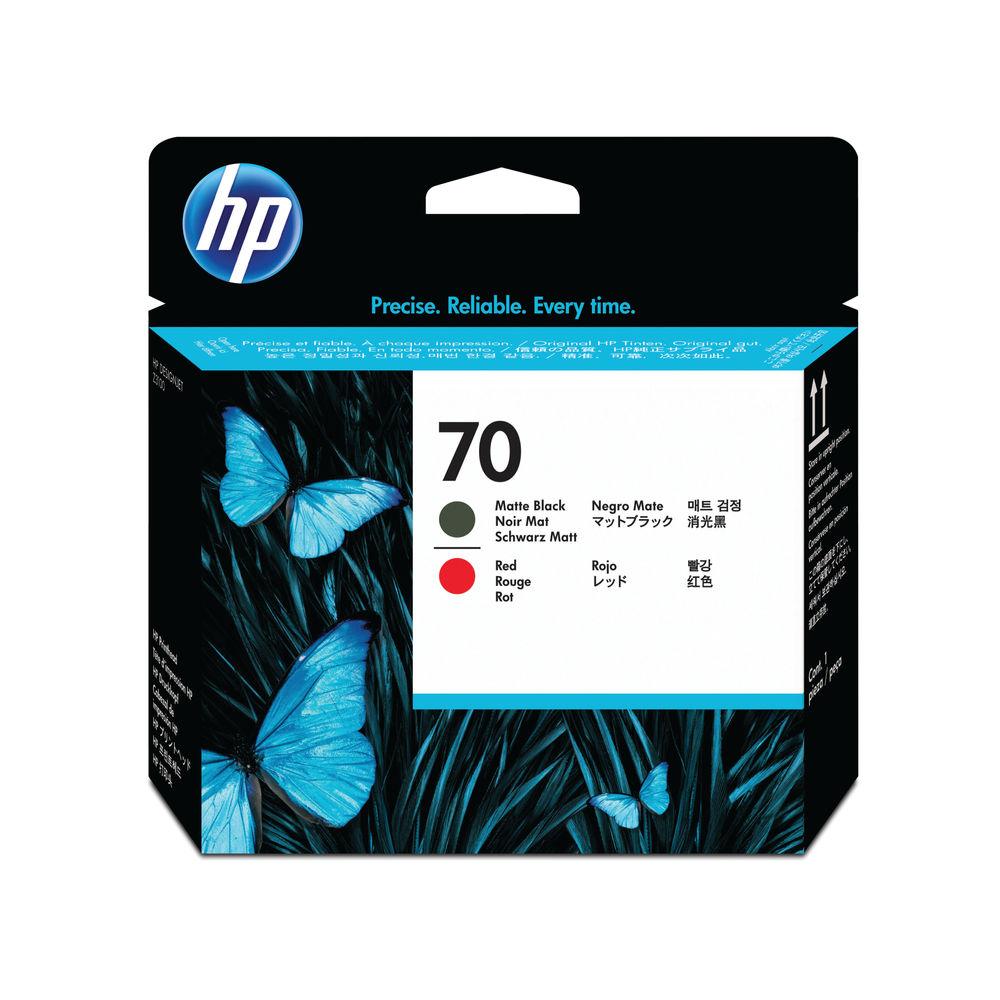 HP 70 Matte Black and Red Printhead - C9409A