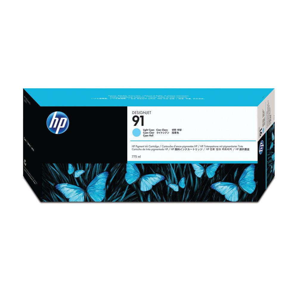 HP 91 Light Cyan Inkjet Cartridge C9470A