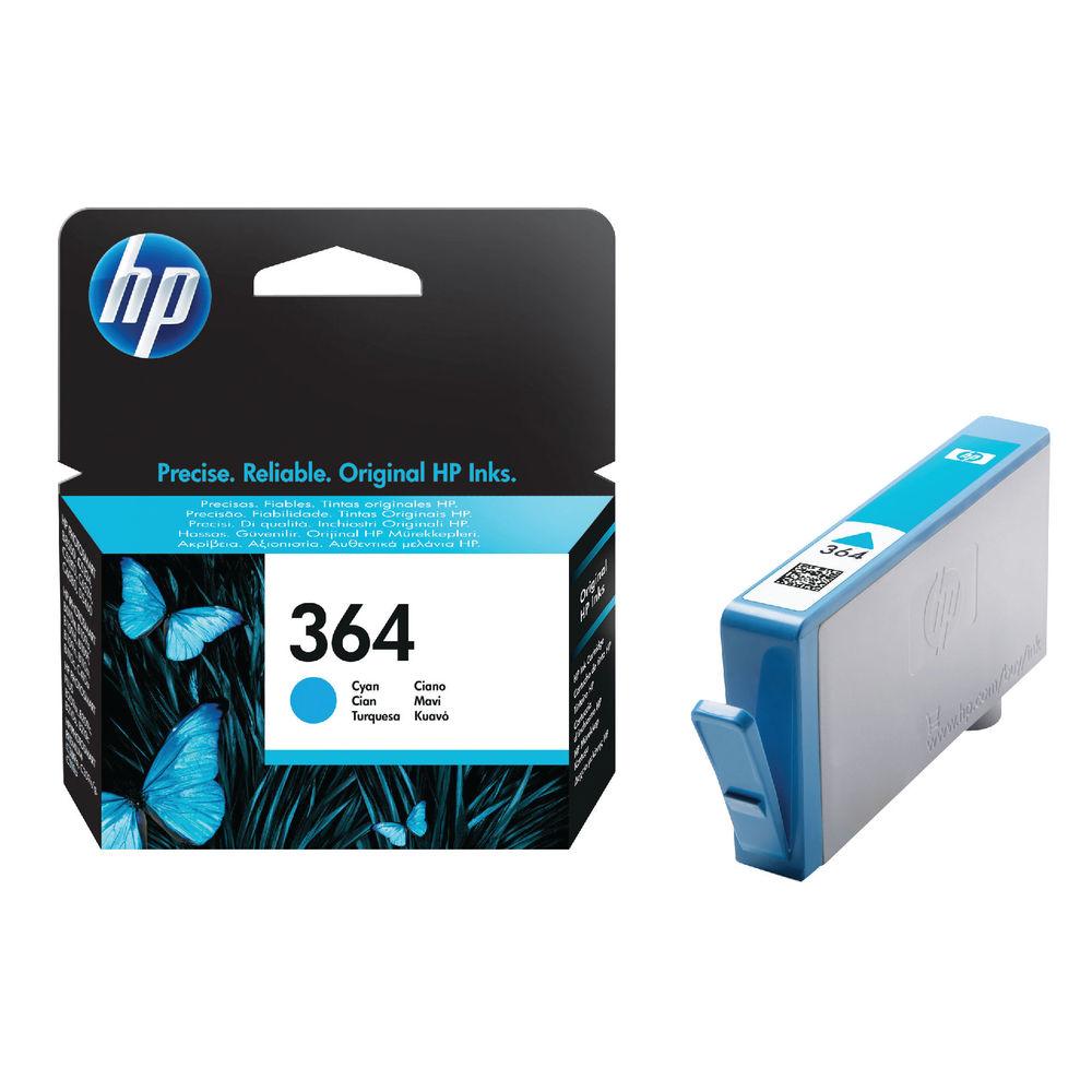 HP 364 Cyan Inkjet Cartridge (Standard Yield, 300 Page Capacity) CB318EE
