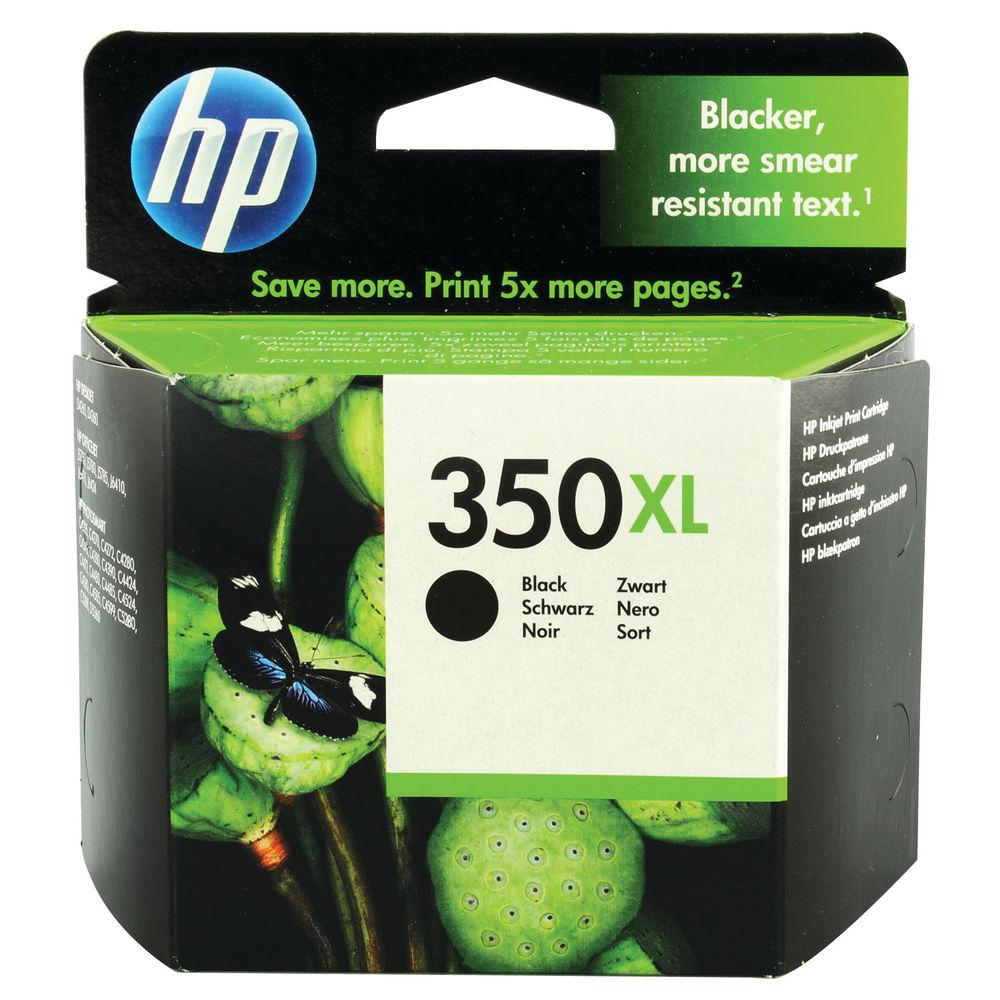 HP 350XL High Capacity Black Ink Cartridge | CB336EE